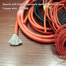 цены 5M/lot Extra soft high temperature resistant silicone wire RC wire 8 10AWG 12 14 16 18AWG 20 22 24 26 Red Black