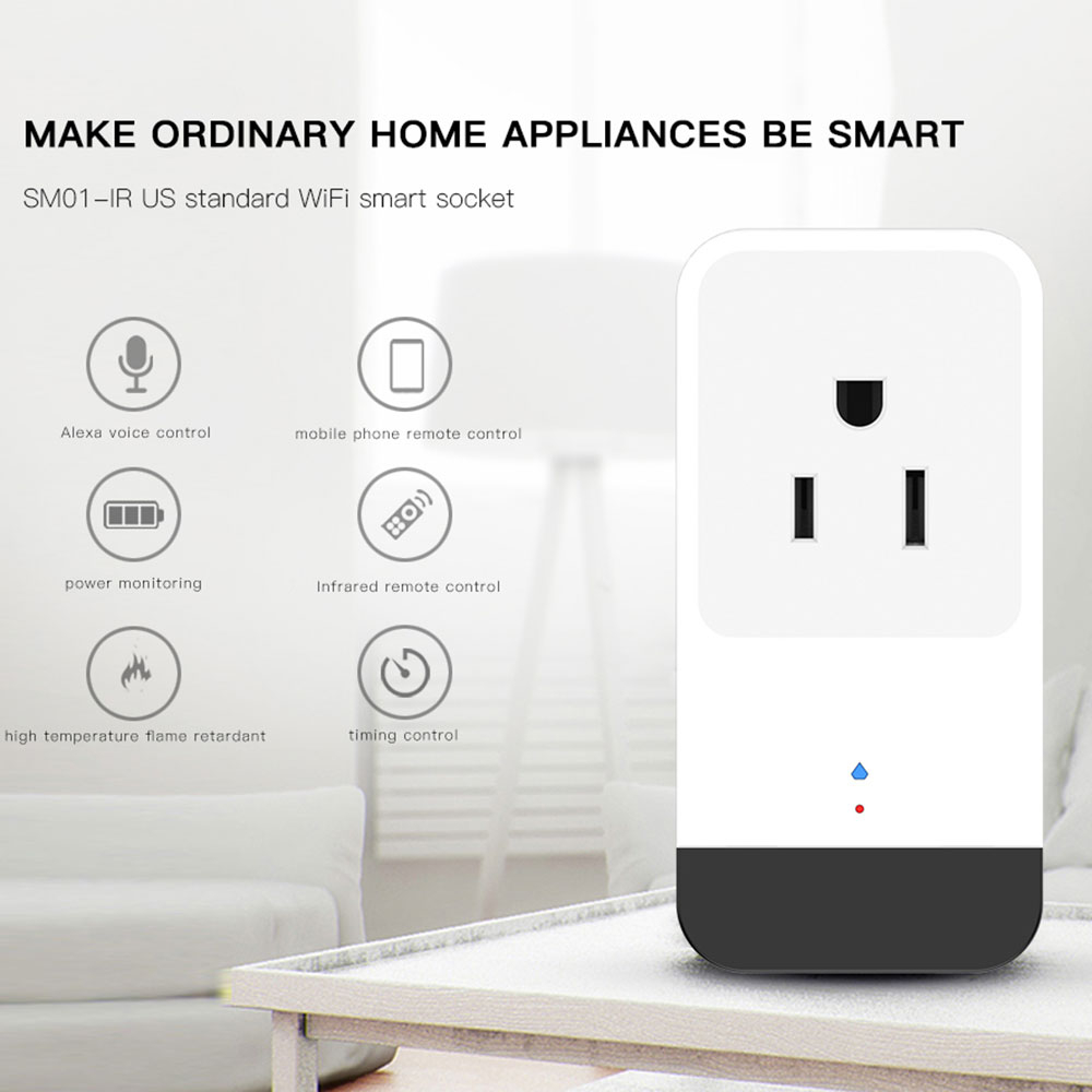 Amzdeal wifi smart power socket wireless switch outlet for Outlet b b