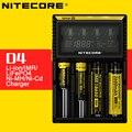 Original nitecore d4 digi inteligente carregador de bateria inteligente com display lcd para 14500,16340 (rcr123), 18650,22650, 26650, aa, aaa bateria