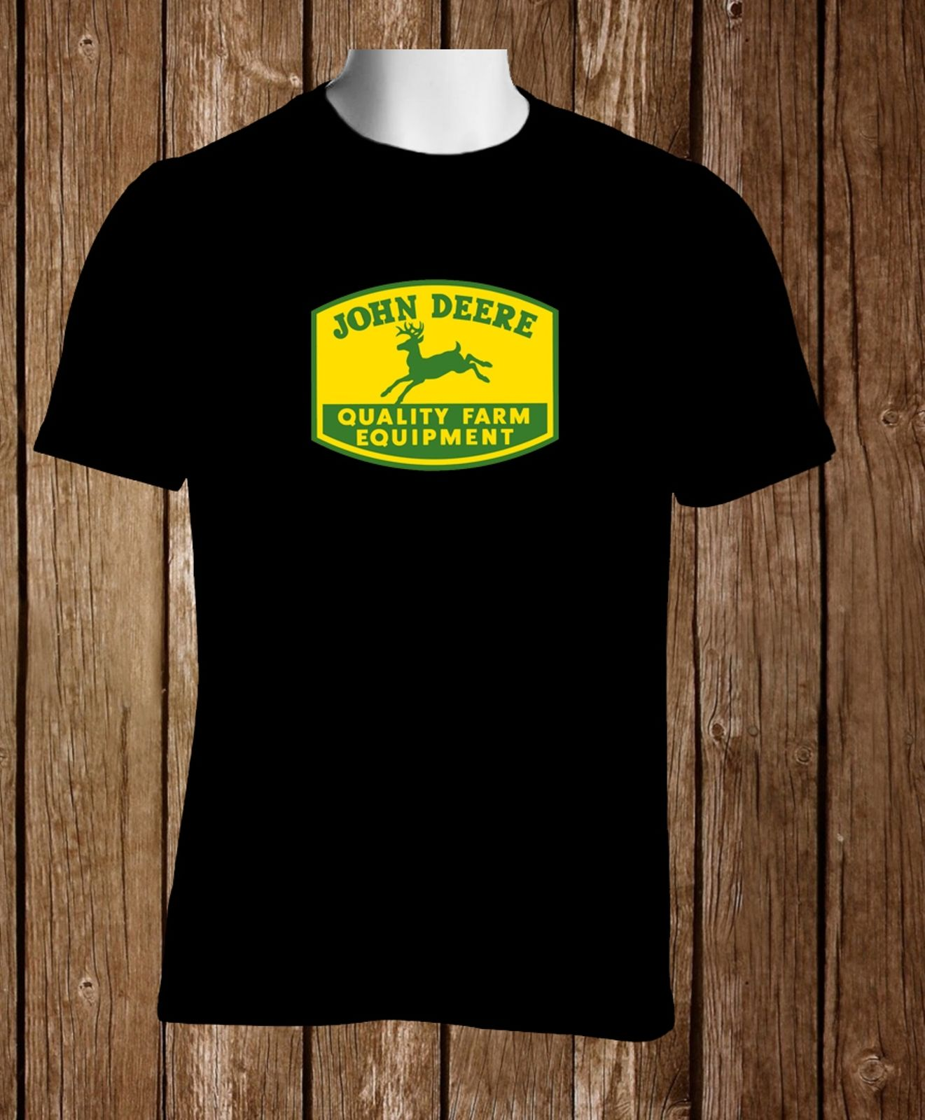 John Deere Vintage Black T-shirt Mens Size S to 3XL Short Sleeve Hip Hop Tee T Shirt top tee Men O-Neck Tee Shirt ...