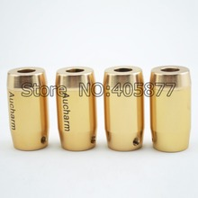 4x Gold Color Speaker RCA Cable Audio Wire Nosie Stopper ring Cable Diameter 9mm