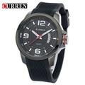 CURREN Men Vogue Sport Watch Silicone Luxury Watch  Relogio Masculino High Quality 8174