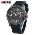 Curren homens moda silicone relógio do esporte relógio de luxo relogio masculino de alta qualidade 8174
