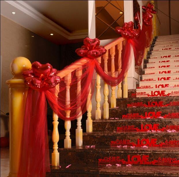 wedding stairs decoration