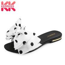 KemeKiss Women's Flat Sandals Bowtie Slipper Flats Sandal Op