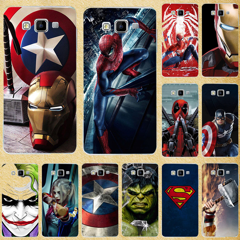 Super Hero Phone <font><b>Case</b></font> Cover for <font><b>Samsung</b></font> Galaxy A3 2015 A300 A300F <font><b>A300FU</b></font> Back Cover for Galaxy A5 2015 A500F A500 <font><b>SM</b></font>-A500F A500H image