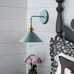 Image 5 - 北欧現代壁ライト傘レストラン装飾マカロンランプリビングルーム寝室通路階段ベッドサイドホームデコレーションインテリア