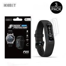 Paquet de 3 Smartwatch Film pour Garmin Vivosmart 4 couverture plein écran protecteur décran Smart Wirstband bouclier transparent Film en polyuréthane thermoplastique souple