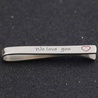 Wholesale 925 Sterling Silver Tie Clip Personalized Letter Love Silver Tie Clip