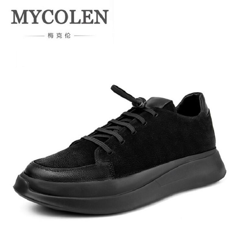MYCOLEN Winter Leather Casual Shoes Men Sneakers Male Height Increasing Krasovki Shoes British Style White Men Shoes 2017 new spring imported leather men s shoes white eather shoes breathable sneaker fashion men casual shoes