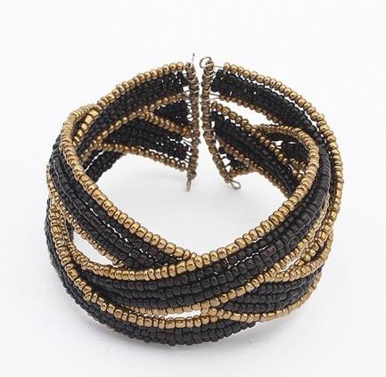 2016 New Vintage Bohemian Colorful Beads Bangle Cuff Bracelets Men Manchette Charm Bracelets & Bangles For Women Party Jewelry