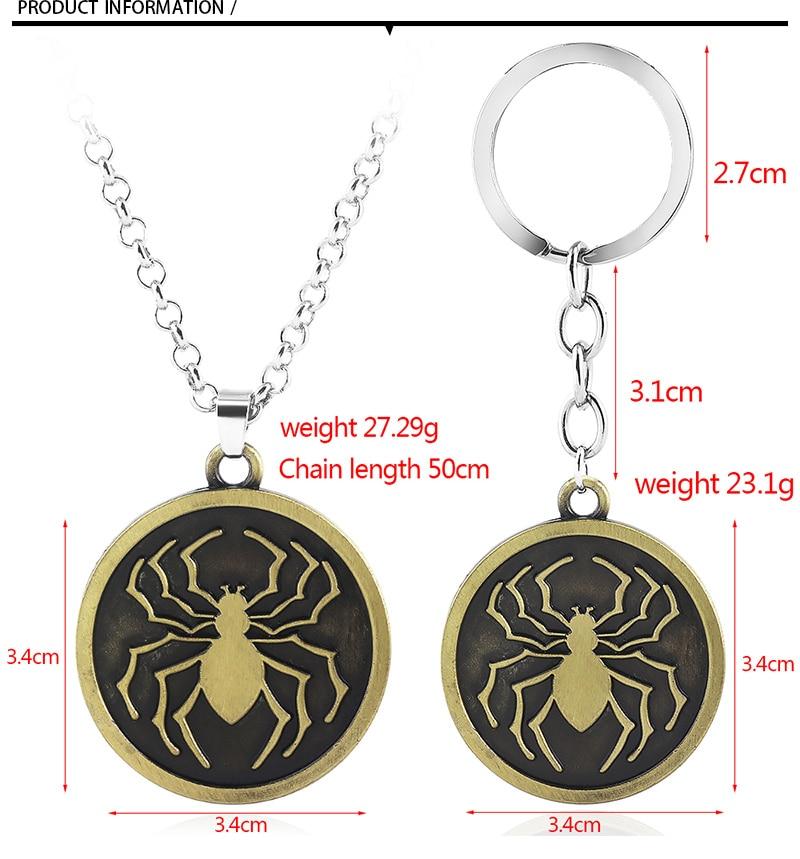 Hunter x Hunter fashion metal pendant on a rope Phantom Troupe Spider anime