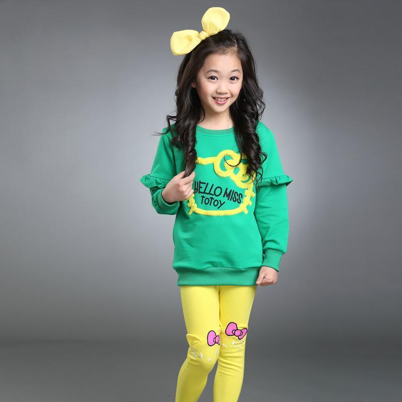 купить Long Sleeve Fashion Autumn Clothes Set For Girls Tracksuits Set Kid Baby Girls Toddler Girl Clothing Overalls Children's Winter онлайн