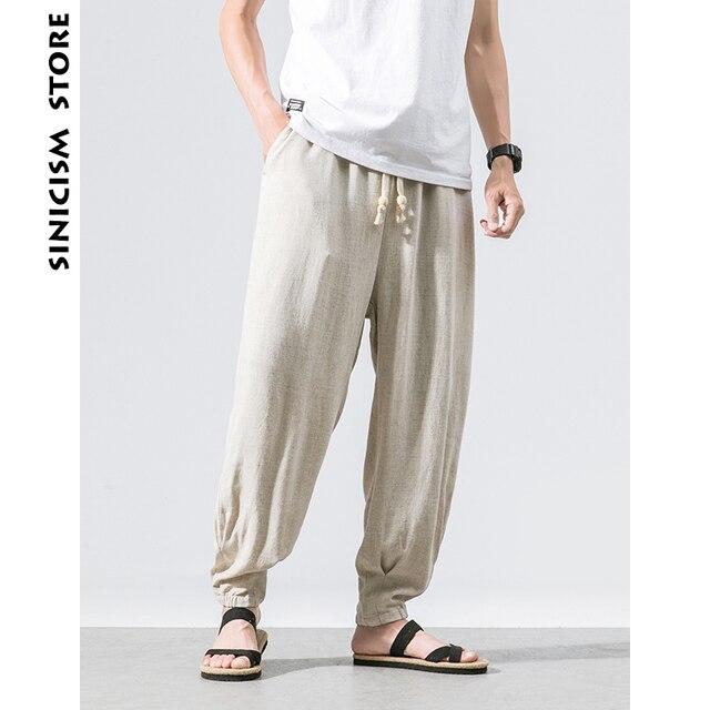 Lin Plus Pantalon Magasin Harem Sinisation Coton Taille Hommes wRPxfSH