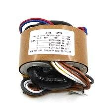 35VA כפול 220 v כפול 6.3 v חמצן משלוח נחושת שנאי 35 w R סוג אודיו מגבר צינור שנאי