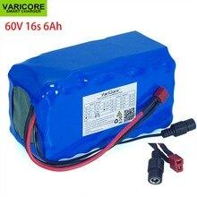 دراجة كهربائية سكوتر 60 فولت 16s2 p 6Ah 18650 حزمة بطارية ليثيوم أيون 67.2 فولت 6000 مللي أمبير في الساعة دراجة كهربائية مع تفريغ 20A BMS 1000 وات