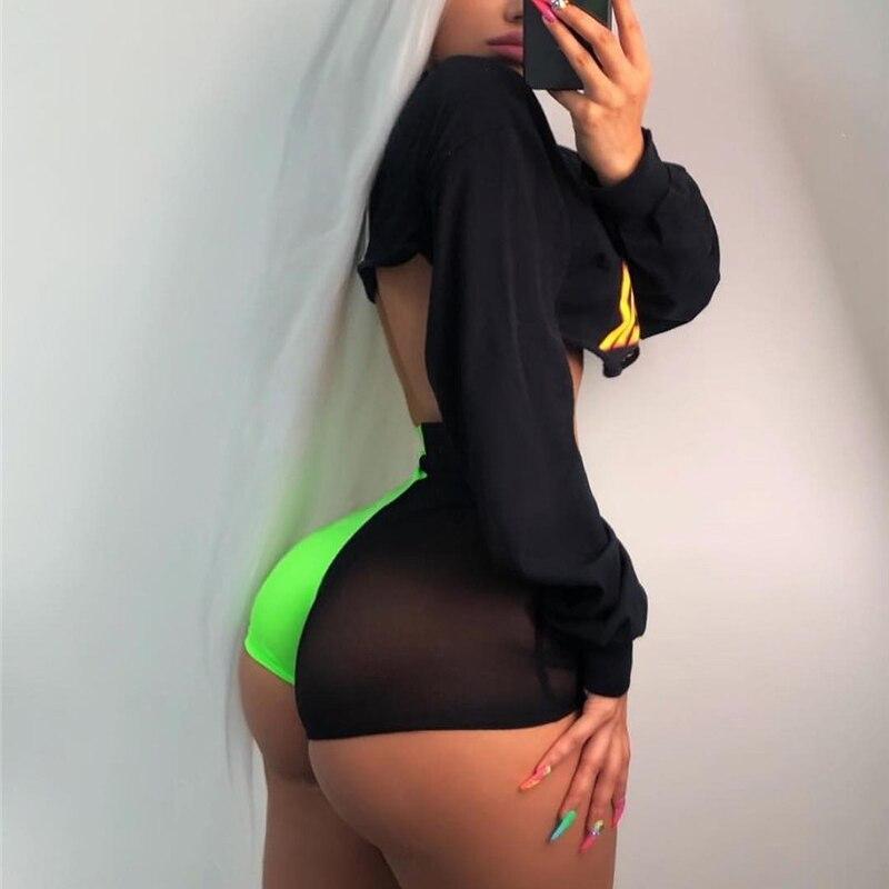 Dorvivon Transparent Mesh Short Feminino 2019 Summer Sexy Women Shorts High Waist Slim Casual Shorts Trousers Womens