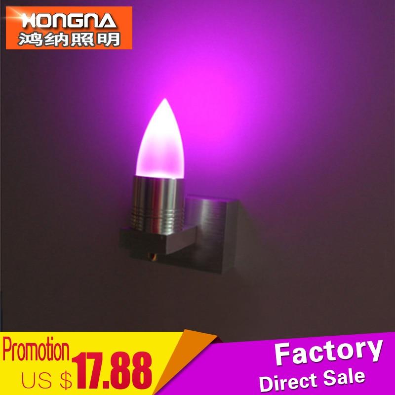 best offer gratis verzending aluminium wandlamp 3 w led