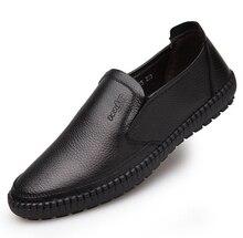 2017 mens zapatos de cuero Genuinos Planos de Los Hombres de Oxford Zapatos Para Hombres Zapatos de Vestir de Oficina Zapatos Hombre Mens Oxfords casual Papá zapatos