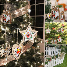 30 patterns The biggest discount Christmas Tree Wreath Christmas Ornament Home Decorations Christmas Hang Noel Party Favors(China)