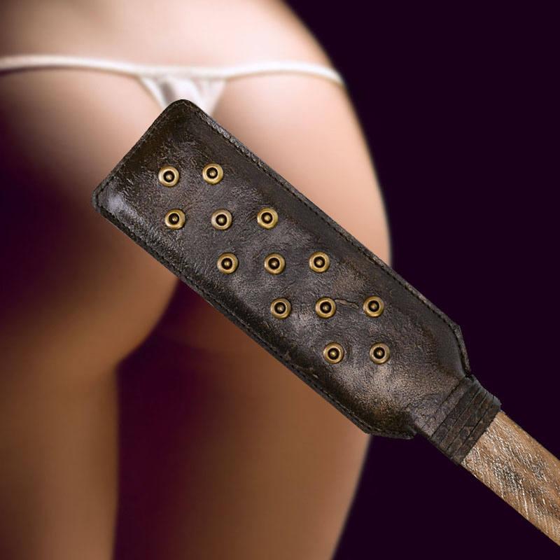 <font><b>Adult</b></font> <font><b>sex</b></font> <font><b>toys</b></font> Genuine Leather Whip <font><b>Fetish</b></font> Kinky Couples Bdsm <font><b>Sex</b></font> game erotic Spanking Paddle Bondage Flogger with rivet whips image