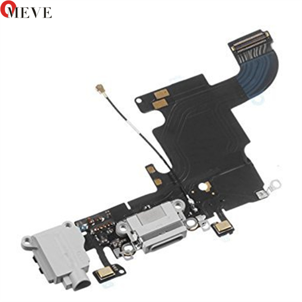 100% Original White Black Charger Charging Port USB Connector Dock Headphone Audio Jack Flex Cable For IPhone 6S & Plus 5.5 ''