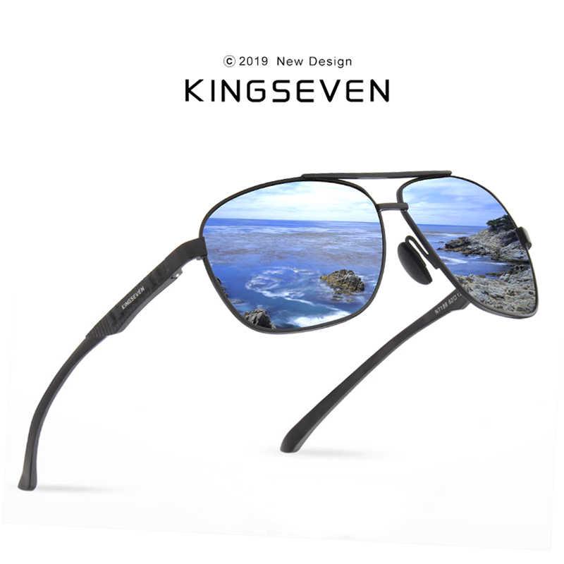 2d1c9365470d KINGSEVEN 2019 Brand Men Aluminum Sunglasses HD Polarized UV400 Mirror Male  Sun Glasses Women For Men