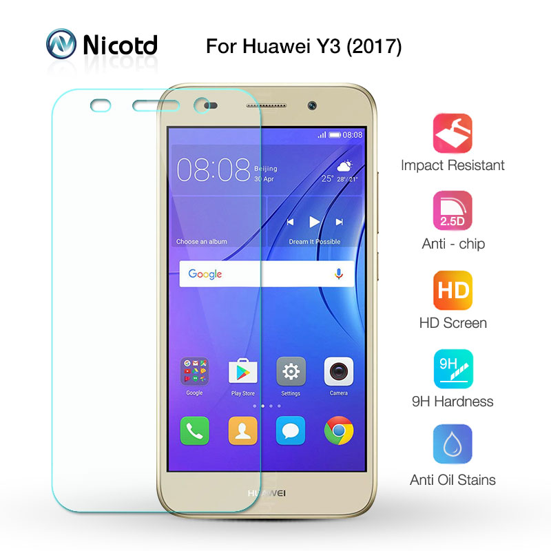 For Huawei Y3 2017 Tempered Glass For Huawei Y3 2017 CRO U00 CRO L02 CRO L22 CRO L03 CRO L23 Screen Protector Protective Film-in Phone Screen Protectors from Cellphones & Telecommunications
