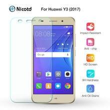 עבור Huawei Y3 2017 מזג זכוכית עבור Huawei Y3 2017 CRO U00 CRO L02 CRO L22 CRO L03 CRO L23 מסך מגן מגן סרט