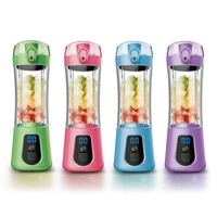 Mini Electric Juicer Cup For Fruit Vegetable Portable Rechargeable LED Display