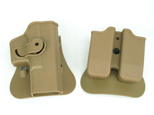 IMI DEFENSE Tactical Combat Outdoor Belt Glock Holster with Magazine pouch 9x19mm glock 17 19 22 31
