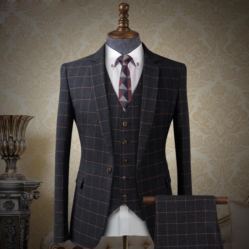 Aliexpress.com : Buy Top Sale 3 piece Plaid Mens Prince Suits ...