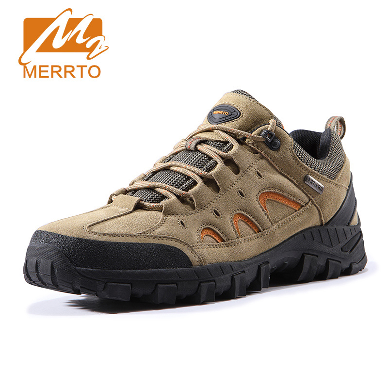 MERRTO Men Hiking Shoes Anti-skid Breathable Outdoor Trekking Shoes for Men Hunting Boots Tourism Mountain Men Sneakers Shoes baideng new men outdoor hiking shoes breathable trekking hike shoes anti skid hunting mountain shoes men sport shoes size 40 46