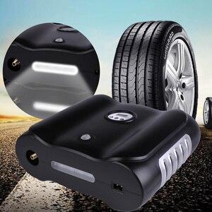 Image 3 - 12 V תצוגה דיגיטלית חשמלי רכב אוויר מדחס משאבת LED אור דיגיטלי מתנפח משאבת צילינדר כפול דיגיטלי מכונית