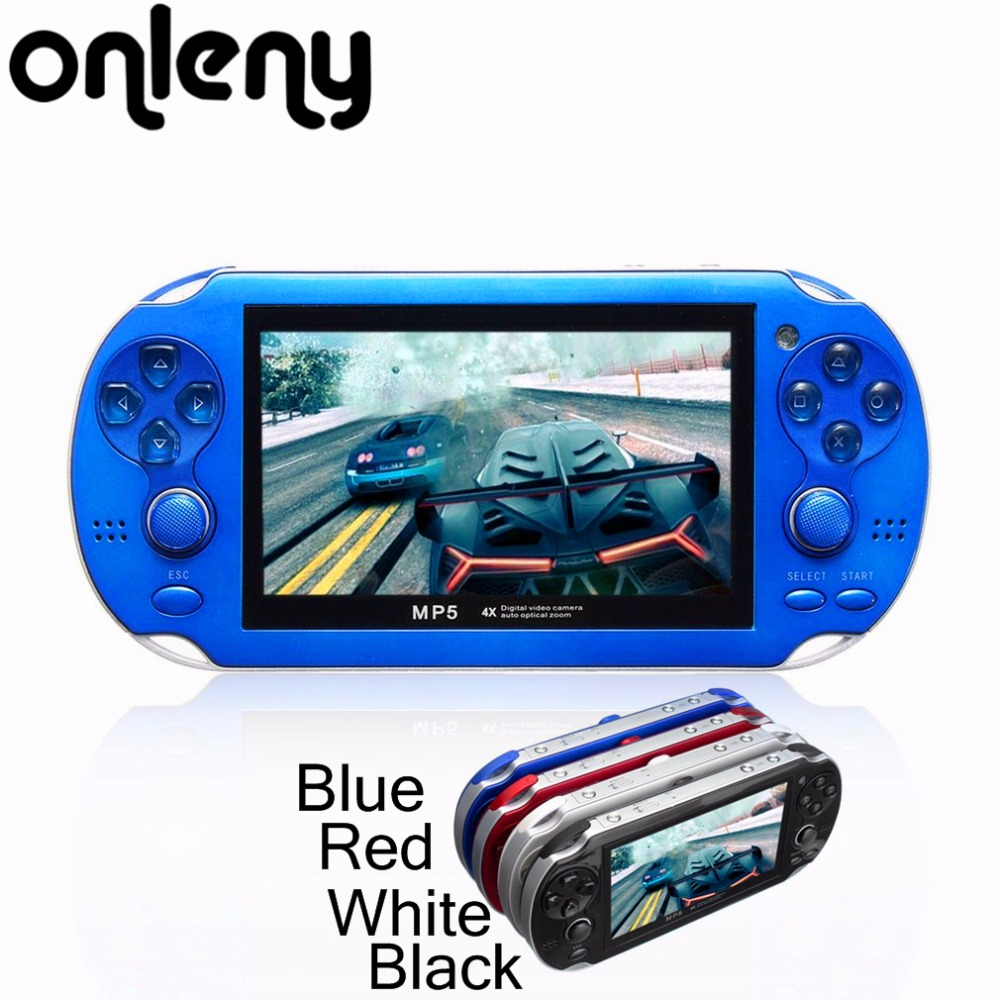 4.3 Inch HD Portable Handheld Game Players MP5 8GB Support For Camera Video E-book GBA Games TF Card Built-in Microphone
