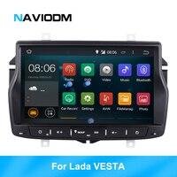 RK Android 8,1 HD 9 дюймов, автомобильный, мультимедийный автомобильный радиоприемник проигрыватель для Lada Vesta 2 din Автомобильный gps DVD 2G ram BT