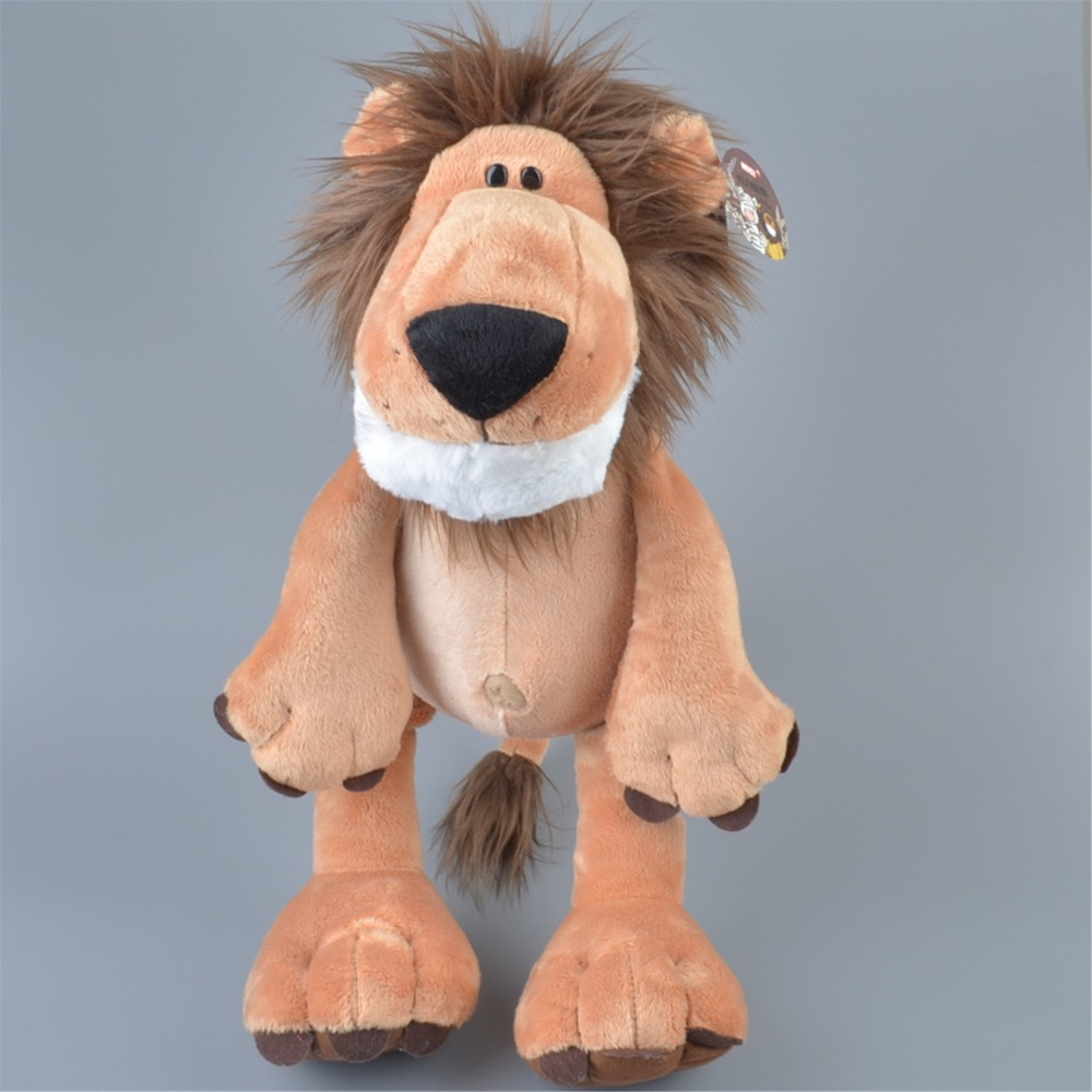 25-45cm Human Friend Lion Wild beast Zoo Lovable Animal A birthday present Plush Toy, Baby Kids Doll Gift Free Shipping
