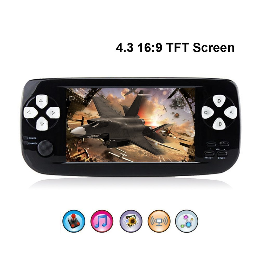 PAP K3 4.3inch Handheld Game Player 64bit Built-in 653 Retro Classic Games For GBC/CP1/NEO/GEO Format Games Support TV Output