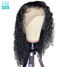 250% 13x6 Curly Lace Front Human Hair Wigs For Women Pre Plucked Hairline With Baby Hair Natural Black Color Brazilian Remy Hair(China)