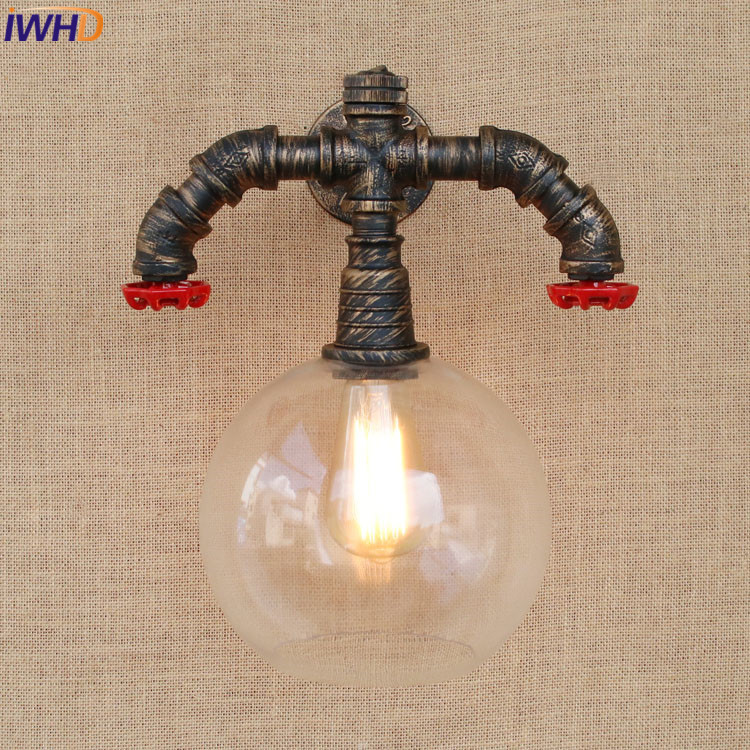 wall lamp with switch on the loft
