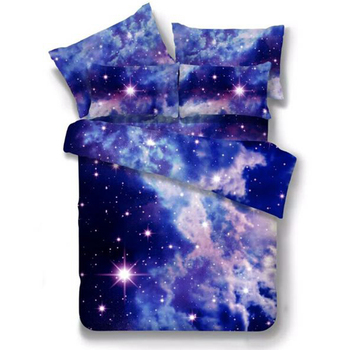 3d Galaxy Bedding Sets Universe Outer Space Themed Bedspread 3 4pcs