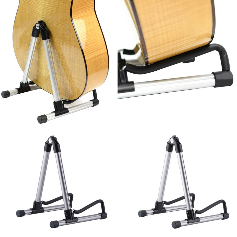 TSAI Folding A-Frame Electric Guitar Floor Stand Holder Acoustic Guitar/Electric Guitar/Bass Floor Rack Holder Free Shipping folding a frame guitar stand rack