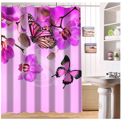 W522#109 Custom Elegant Colorful Orchid Flower #1 Modern Shower Curtain bathroom Waterproof Free Shipping #fj109