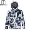 Thin Breathable Soft Hooded Windbreaker Jacket European and American Fashion Printed 3D Quick-drying Jackets M376