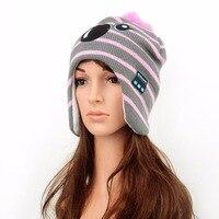 TYAYA Sevimli % 100% Pamuklu Kumaş Malzeme Kablosuz Bluetooth Şapka Kap Kulaklıklar Kulaklık için Kadın Kızlar Noel Hediyesi Pembe Renk