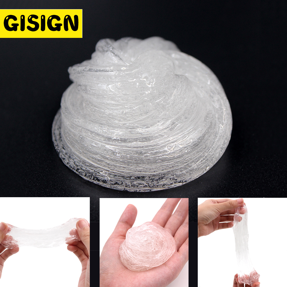 Transparent Glue for Slime Fluffy lizun Plasticine Clay Light Modeling Polymer Clay Sand Kids Antistress Toy Supplies(China)