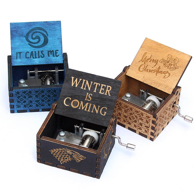 Hand Crank Beauty And The Beast Wooden Music Box Game Of Thrones Star Wars Christmas Gift New Year Birthday