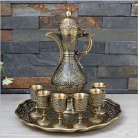 High quality European bronze color metal wine set wine decanter bartender set moonshine distiller with gift box JJ096
