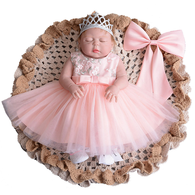 d41e976dd Floral Baby Girl Designer Dresses with Headband Gown Children Party ...