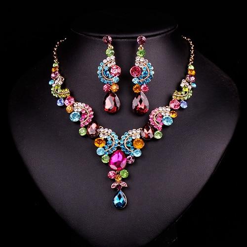 Aliexpress Com Buy New Fashion Necklace Earrings Bridal: Aliexpress.com : Buy Fashion Dubai Rhinestone Bridal